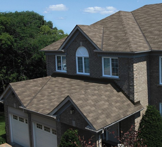 Beautiful new GAF shingle roof for home in Arlington heights IL